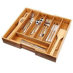 Cutlery Tray with 7 Compartments Flatware Organizer Used for