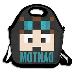 DanTDM Minecraft Diamond Lunch Box Bag Lunch Tote Lunch Hold