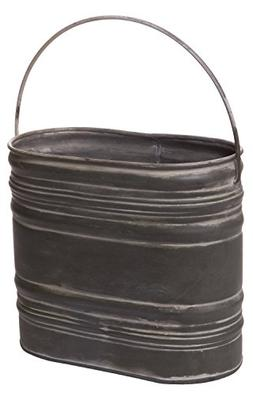 Red Co. Decorative Metal Bucket Basket Pocket Holder Contain