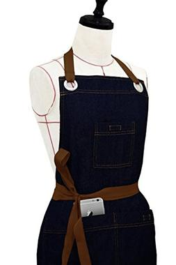 Milano Home Denim Professional Apron for Men & Women with Ad