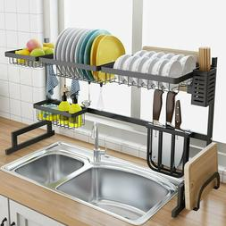 Dish Drying Rack Over Sink Display Drainer Kitchen Utensils
