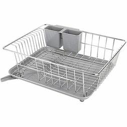 Dish Drying Rack With Drain Board, Stainless Steel Drainer U