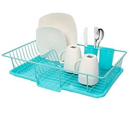 Dish Rack Drainer 3 Piece Set W/ Drying Board and Utensil Ho