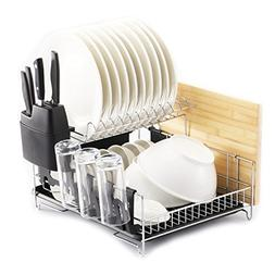 Dish Rack Plate Dryer Cup Tray Holder Stainless Steel Organi