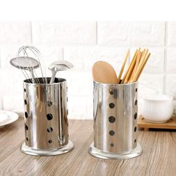Drainer Cutlery Stand Holder Kitchen Stainless Steel Tray St