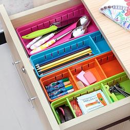 EYLEER Drawer Organizer, Adjustable Drawer Cabinet Storage O