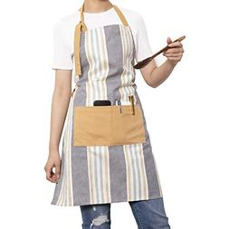 Neoviva Durable Basic Bib Apron for Women with Pocket and Ad