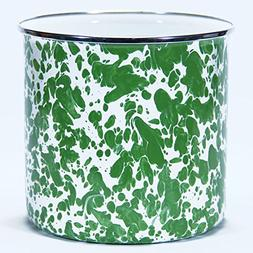 Enamelware Green Swirl Pattern - Utensil Holder