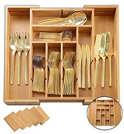 Utensil Drawer Organizer | Divides up to 13 Compartments | C