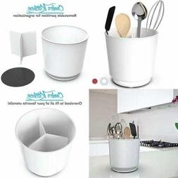 Extra LARGE & Sturdy Rotating Utensil Holder Caddy W No Tip