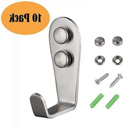 Extra Thick Coat Hook 10 Pcs, Angle Simple SUS304 Stainless