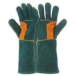 YAOBAO Fire Gloves, Leather With Perfect For Fireplace, Stov