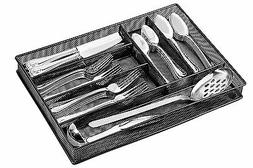 Flatware Drawer Organizer - Slip Resistant Kitchen Tray with