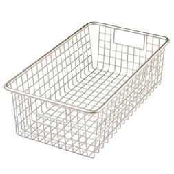 InterDesign Forma Household Wire Storage Basket with Handles