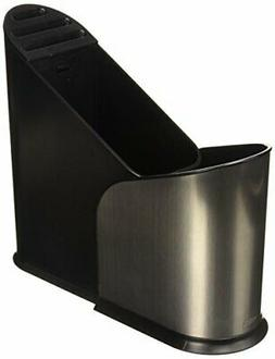 Umbra Furlo Black Stainless Steel Expandable Utensil Holder,