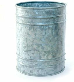Galvanized Metal Utensil Holder Crock Container for Cooking
