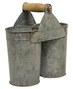 Craft House Designs Galvanized Utensil Caddy Flower Cans Rus