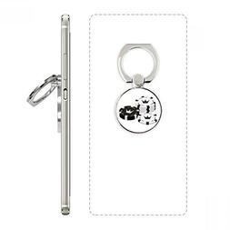 Gambling Utensils Chips Crown Pattern Cell Phone Ring Stand
