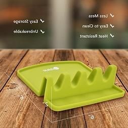 Orblue Giant Spoon Rest - Silicone Utensil Rest w/ 2 Color C