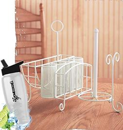 Gift Included- Kitchen Utensils Picnic Caddy with Napkin, Pa