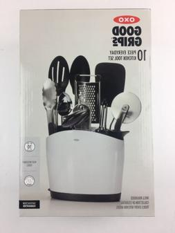 OXO Good Grips 10-Piece Everyday Kitchen Tool Set with Utens