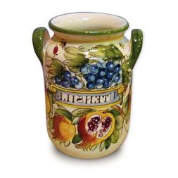 Toscana Hand Painted Bees Utensil Holder From Italy