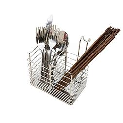 LUANT Hanging 2 Compartments Mesh Utensil Drying Rack/Chopst