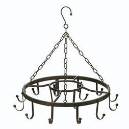 Hanging Pot Rack Ceiling, Cast Iron Pot Rack Black, Overhead