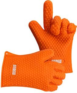 Winrida Heat Resistant Silicone BBQ Gloves for Cooking Bakin