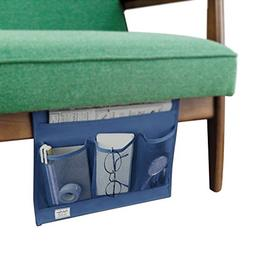 Heavy-Duty Oxford 4 Pocket Bedside Caddy Hanging Table Cabin