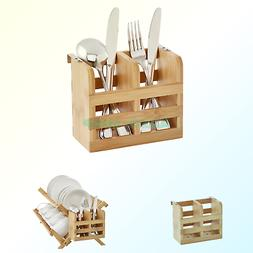 Helen's Asian Kitchen 97132 Dish Rack Caddy, Natural Bambo