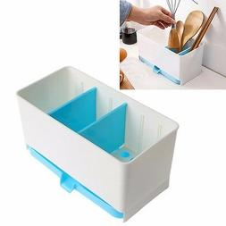 Holder Rack Basket Sponge Dry Shelf Wash Cutlery Drainer Sin