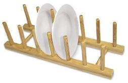 Home Basics Bamboo Dish Rack New