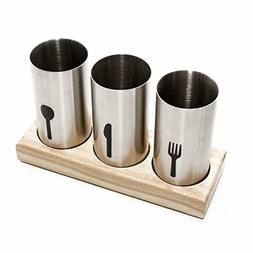 Home Stainless Steel Utensil Cutlery Holder Caddy, Organize
