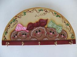 HP Hand Painted Gingerbread Kitchen Tool Utensil Rack Kitche