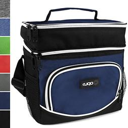 OPUX Premium Insulated Dual Compartment Lunch Bag for Men |