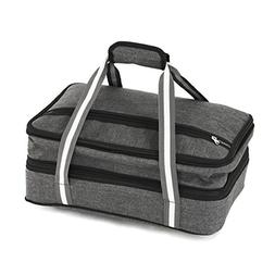 Insulated Expandable Double Casserole Carrier and Lasagna Ho