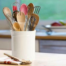 SZUAH Kitchen Ceramic Utensil Holder, Perfect Capacity Utens