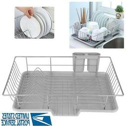 Kitchen Dish Drying Rack Drainer Dryer Tray Cutlery Holder O
