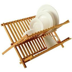 Kitchen Dish Rack, Small Folding Home Basics 2 Tier Dish Rac