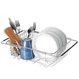 Kitchen Drying Dish Drainer Rack Sink Basket Holder Organize