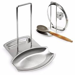 Kitchen Pan Lid Holder for Pots and Spoon Rest Stainless Ste