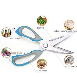 Kitchen Shears 8 in 1 - MISUNDER 2017 Stainless Steel Cookin