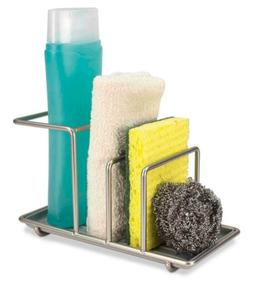 Home Basics Kitchen Sink Caddy Station, Sponge and Soap Hold
