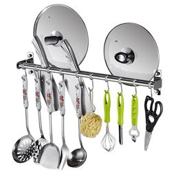 Kitchen Space Stainless Steel Rack Wall Mounted Utensil Hang