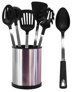 Kitchen Utensil Set Home 6 Pcs Stainless Steel Rotating Hold
