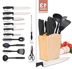 13pcs Kitchen Utensil Set Included 6Pcs Kitchen Knives With