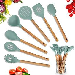 Kitchen Utensil Set 8 Piece Silicone Cooking Utensils Set, W