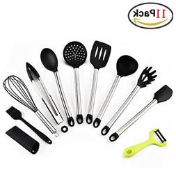 Kitchen Utensil Set Silicone 11 Pcs Nonstick Heat Resistant