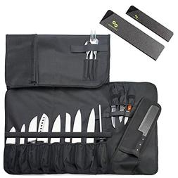 Chef Knife Roll Bag  Holds 12 Knives, 1 Meat Cleaver, And 3